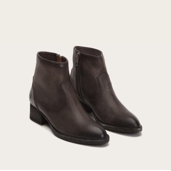 0cfc167e1d Frye Shoes | New Brooke Short Inside Zip Leather Boots | Poshmark